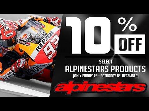 10% Off Alpinestars December 7th-8th | Sportbike Track Gear