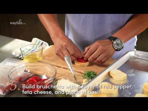 5 Ingredient Appetizer: Roasted Red Pepper Bruschetta