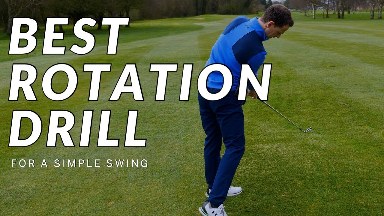 Best ROTATION DRILL for your Backswing and Downswing - It's super SIMPLE!