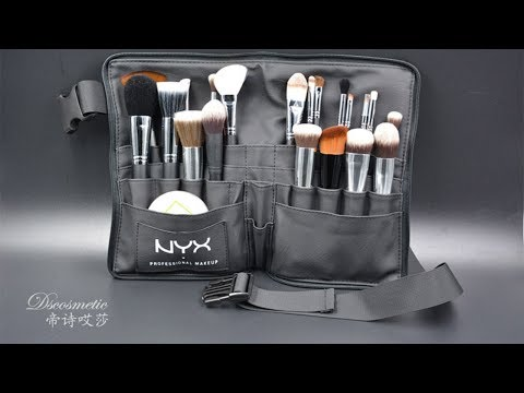 Black Two Arrays Professional Makeup Brush Holder