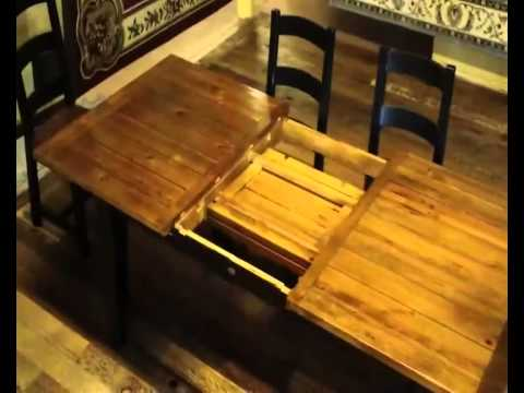 Reclaimed Wood Farmhouse Table with Butterfly Leaf Demo