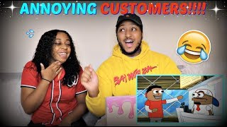 "Tutweezy ""Customers be like (feat. Reggie Couz)"" Spongebob Parody REACTION!!!"