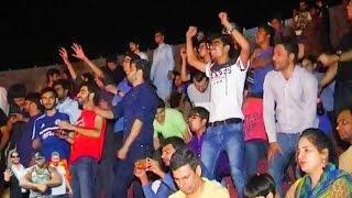 International wrestlers in action in Lahore