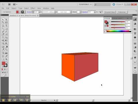 Drawing 3D, part3, boxes with Perspective Tool in Illustrator.mp4