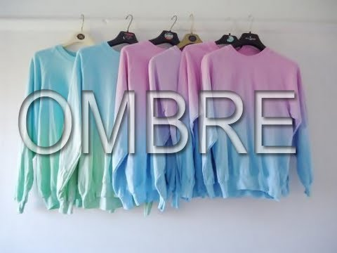 DIY Ombre shirt / Ombre techniques
