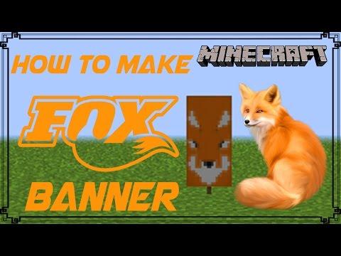 Minecraft | How to make Fox Banner | Mangoman