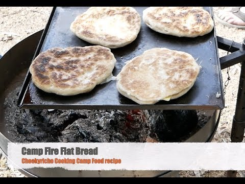 How to Make Camp Fire Flatbread cheekyricho cooking camp cooking recipe ep.1,197