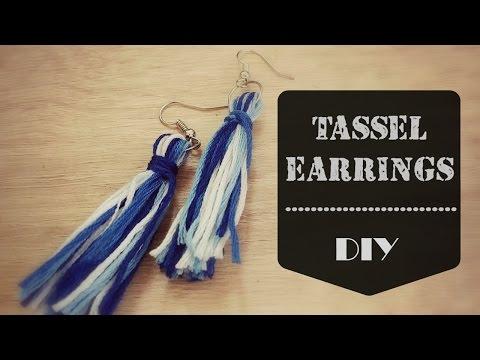Tassel Earrings   DIY   FAST & EASY