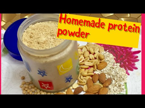 HOMEMADE PROTEIN POWDER|HOW TO MAKE PROTEIN POWDER AT HOMEघर पर ही बनाए प्रोटीन पाउडर, और बॉडी बनाए