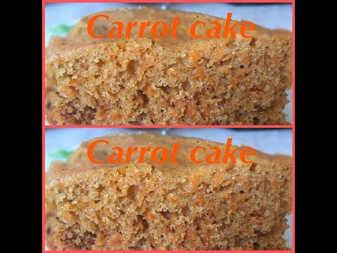 Carrot cake recipe in saucepan | Eggless Carrot cake | Carrot cake without Oven or Pressure cooker