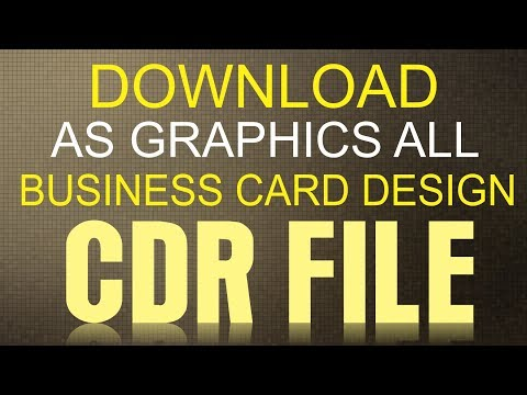 CorelDraw x7 Tutorial -How To Download Business Card CDR File with AS GRAPHICS