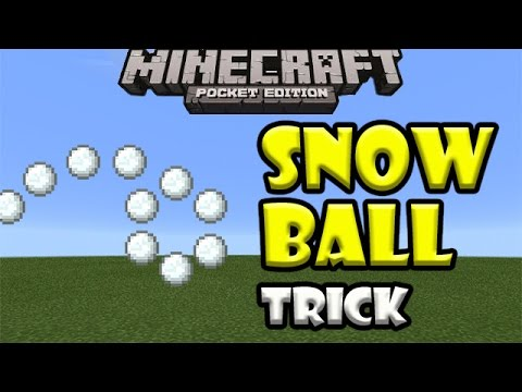 SNOWBALL TRICK | Minecraft PE (Pocket Edition)