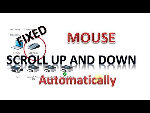 Mouse automatically scrolling in Windows 10