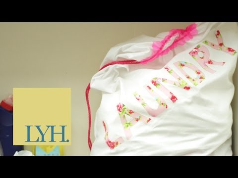 Turn A Pillowcase Into A Laundry Bag | Made At Home 2