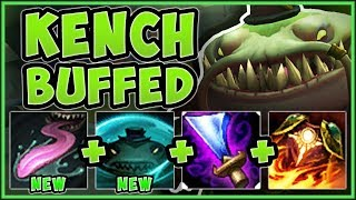 Download RIOT?? KENCH'S ″NERFS″ MAKE HIM 100% BUSTED SOLO LANER! TAHM KENCH TOP GAMEPLAY! - League of Legends Video