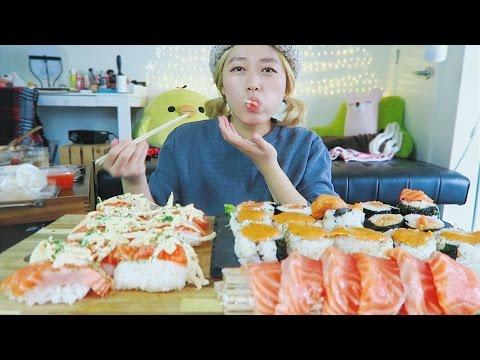 BigMac Sauce Ep #1   SALMON SUSHI SUSHI Cooking Mukbang