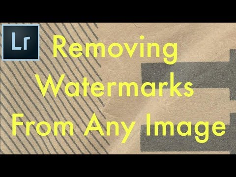 Adobe Lightroom CC - Removing Watermarks From Any Image