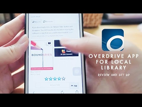 Borrowing Ebooks from National Library | OVERDRIVE APP