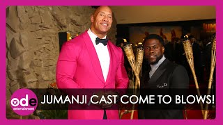 JUMANJI: The Rock, Kevin Hart and Karen Gillan Come to Blows at Premiere!