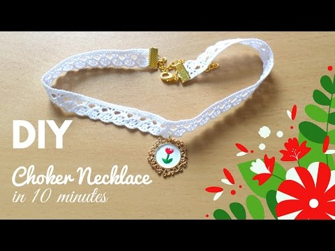 Make a Choker Necklace in 10 Minutes | DIY Charm Choker Necklace Quick and  Easy Jewelry Ideas