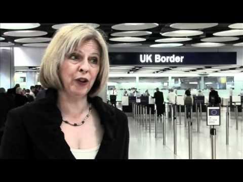 Home Secretary visits Heathrow airport.flv