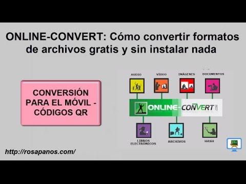 ONLINE CONVERT (5) Conversion para móvil usando Codigo QR - HD con subtitulos