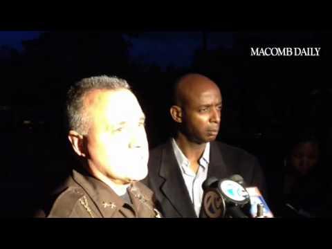 Macomb County Sheriff Anthony Wickersham on Stony Creek crash Friday