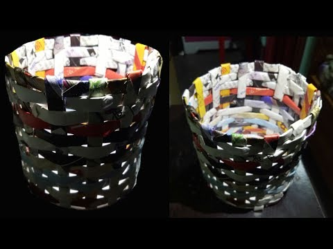 How To Make DIY  Decorative Paper Basket | LifeStyle Designs | Best out of waste | Newspaper Craft I