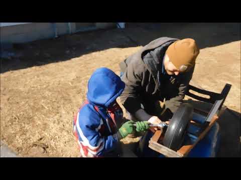 Never flat wheelbarrow wheel replacement