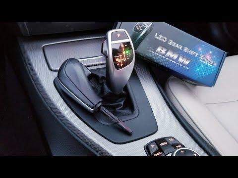 BMW F30 Style Led Sport Shift Knob Retrofit Kit Unboxed and Installed on E90!