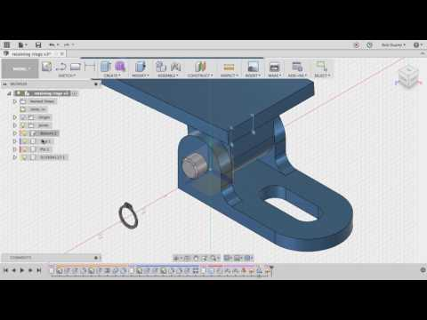 Making a groove for a retaining ring in Fusion 360