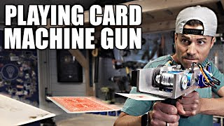 Playing Card Machine Gun- Card Throwing Trick Shots