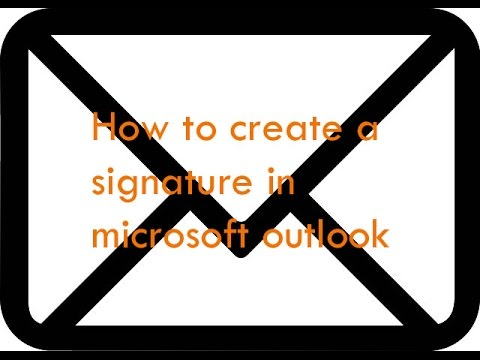 How to create a signature in microsoft outlook - Let Me Fix IT