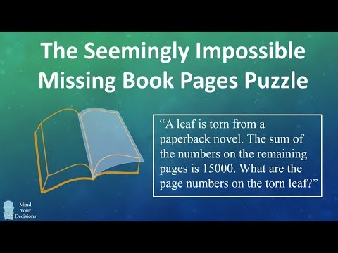 The Seemingly Impossible Missing Book Pages Puzzle From India (Corrected)