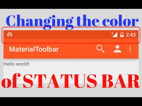 CHANGING THE COLOR OF THE STATUS BAR (Android Development)