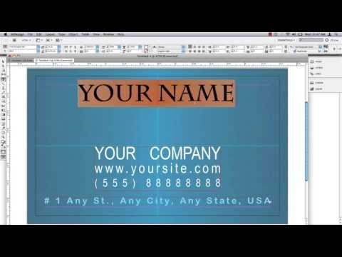 Business Card in InDesign