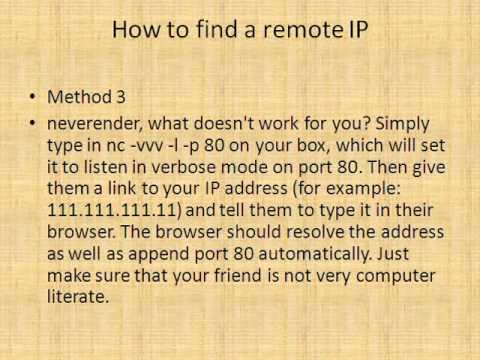 How to find a remote IP