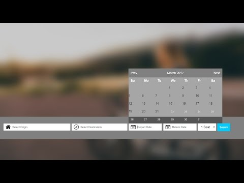 How to create calendar in html using jquery -