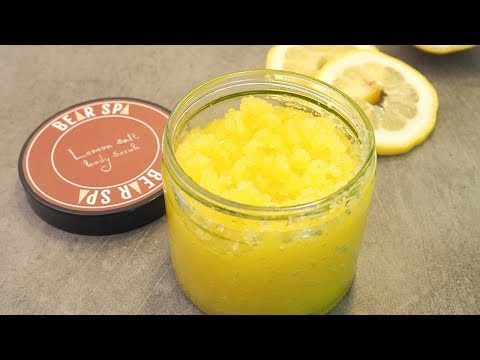 How to make lemon salt scrub