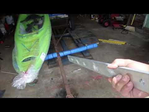 Making a kayak trailer 4    two story job