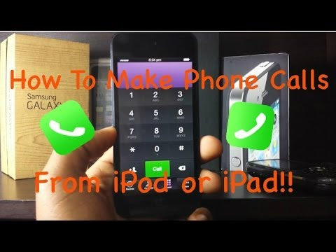 How To Make Phone Calls From iPad/iPad Mini/iPod Touch!