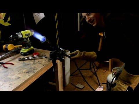 DIY gas forge burner test (unedited quicksy vid)