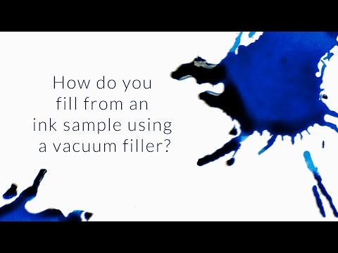 How Do You Fill From An Ink Sample Using A Vacuum Filler? - Q&A Slices