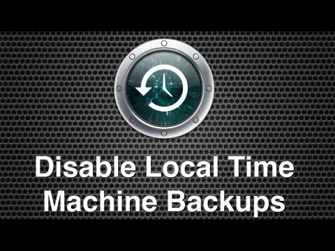 Disabling Local Time Machine Backups On Mac OS X
