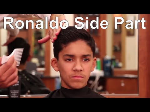 Cristiano Ronaldo Side Part Hairstyle - Greg Zorian Haircut Tutorial