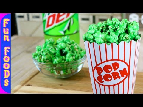 Mountain Dew Flavored Popcorn   How to Make Candy Popcorn