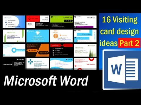 16 Visiting card design ideas in MS Word Part 2   Microsoft Word Tutorial