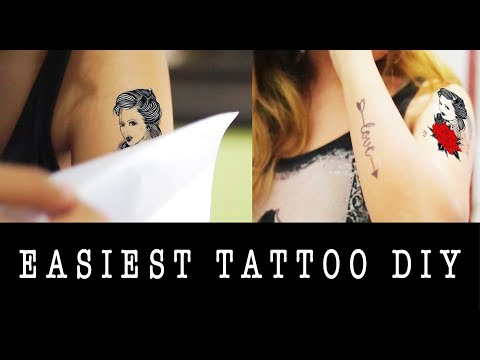 DIY TEMPORARY TATTOO (SUPER EASY!)