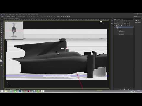 Painting a Car Livery on a 3D Model - Photoshop Tutorial