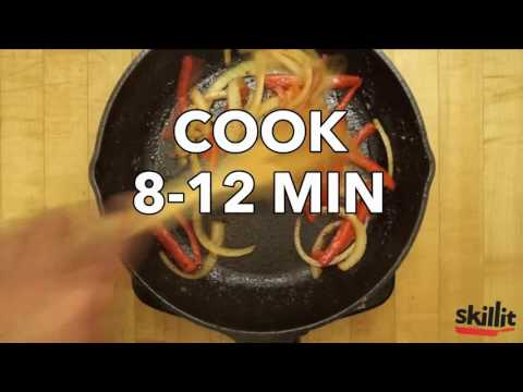 One-Pan Wonder: Chicken, Peppers & Onions Stir-Fry | Skillit Cooking: Simple, Easy Recipes